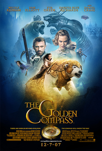 Un cartel de The Golden Compass